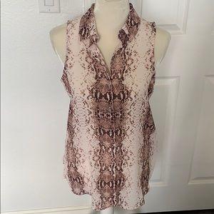 Rachel Zoe snakeskin print sleeveless blouse NWT